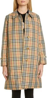 Burberry Draper Reversible Check Raincoat