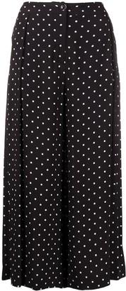 Pinko Polka Dot Cropped Trousers