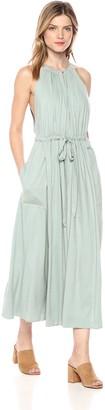 ASTR the Label Women's Farren Halter Dress with Drawstring Belt