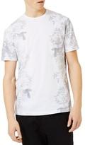Topman Men's Slim Fit Floral Print T-Shirt