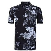 Dolce And Gabbana Floral Print Polo Shirt