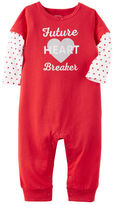 Carter's Long-Sleeve Future Heartbreaker Valentine's Day Bodysuit