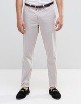 Asos Skinny Smart Chinos In Light Grey
