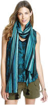 Joe Fresh Women's Print Fringe Trim Tank, Teal (Size XL)