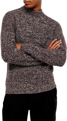 Topman Twist Mock Neck Sweater