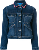 MiH Jeans Stockholm customised denim jacket by Amanda Norgaard - women - Cotton - XS
