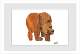 Front Cover Brown Bear by Eric Carle (Framed Giclee)