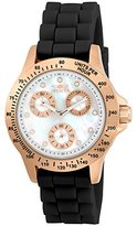 Invicta Women's 'Speedway' Quartz Stainless Steel and Silicone Casual Watch, Color:Black (Model: 21986)