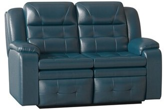 "Southern Motion Inspire Reclining 60"" Pillow Top Arm Loveseat Body Fabric: Wild Side Chestnut, Reclining Type: Manual"