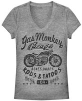 Old Glory Gas Monkey Garage - Biker Babe Juniors V-Neck T-Shirt