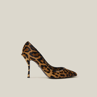 Dolce & Gabbana Animal Leopard-Print Calf Hair Pumps Size IT 36