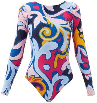 La DoubleJ Luna Park-print Surf Swimsuit - Blue Print