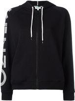 Kenzo logo print hoodie - women - Cotton - XS