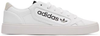 adidas White Sleek Sneakers