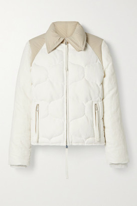 MONCLER GENIUS + 2 Moncler 1952 Margaret Paneled Cotton And Linen-blend Velvet And Shell Down Jacket - White