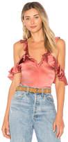 For Love & Lemons Lena Ruffle Bodysuit