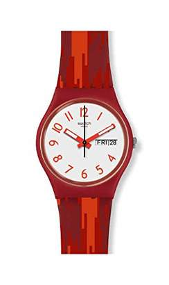 Swatch Unisex Adult Analogue Watch with Silicone Strap GR711