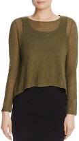 Eileen Fisher Sheer Knit Crop Sweater