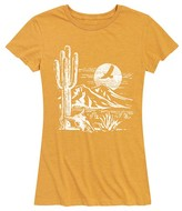 Instant Message Women's Women's Tee Shirts HEATHER - Heather Golden Meadow Desert Scene Relaxed-Fit Tee - Women