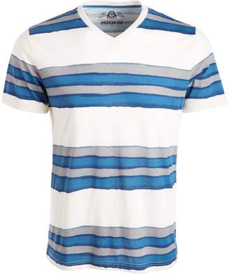 American Rag Men V-Neck Watermark Striped T-Shirt, Created from Macy