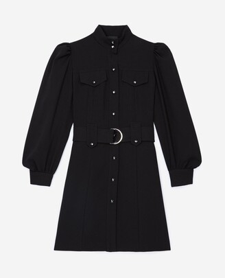 The Kooples Shirt-style short black dress