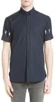 Neil Barrett Men's Slim Fit Thunderbolt Sleeve Sport Shirt