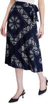 Black Tape Paisley-Print Midi Skirt