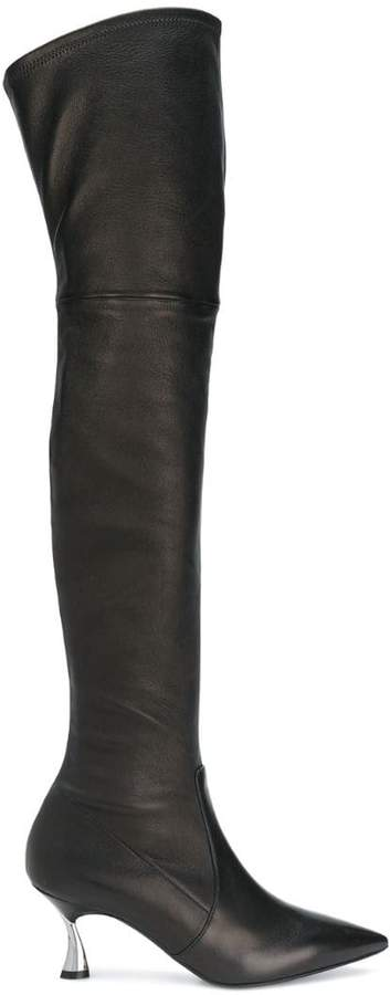 Casadei heeled over the knee boots