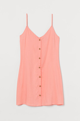 H&M Button-front Dress - Orange