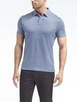 Banana Republic Slim Luxury-Touch Mix-Texture Polo