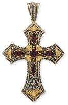 Konstantino Silver & 18k Rhodolite Cross Pendant