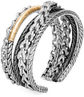 John Hardy Classic Chain 18K Bonded Yellow Gold & Silver Cuff