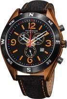 Akribos XXIV Men's AK582OR Conqueror Swiss Quartz Chronograph Leather Strap Watch