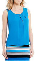 Kasper Pleat-Neck Cami