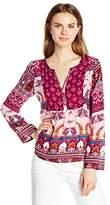 Roxy Women's Havana Printed Bohemian Long Sleeve Top