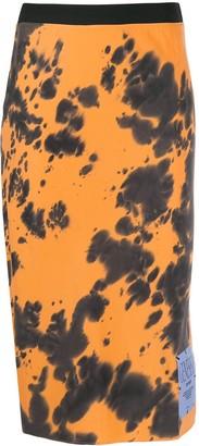 McQ Genesis patch tie-dye skirt