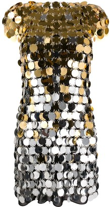Paco Rabanne Disc-Embellished Mini Dress