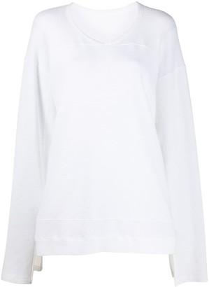 Rick Owens V-neck loose fit T-shirt