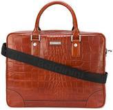 Baldinini crocodile skin effect briefcase