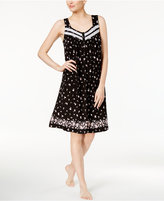 Charter Club Lace-Trimmed Printed Nightgown, Created for Macy's