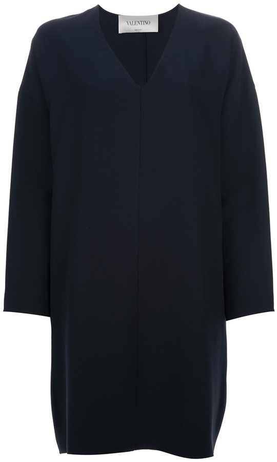 Valentino bell sleeve shift dress