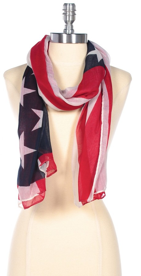 Lori's Shoes American Flag Scarf