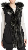 Derek Lam 10 Crosby Fur Trim Vest