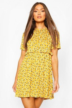 boohoo Ditsy Floral Smock Dress