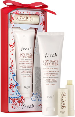 Fresh Travel Size Soy Face Cleanser & Sugar Lip Treatment Advanced Therapy Set