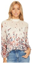 Lucky Brand Floral Mixed Print Top Women's Clothing