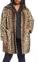 Via Spiga Plus Size Women's Reversible Coat