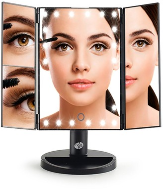 Rio 24 LED Touch Dimmable 3 Way Makeup Mirror with 2 & 3X Magnification