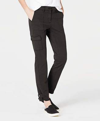 J. Jill J.Jill Women's Casual Pants BLACK - Black Wash Cotton-Stretch Cargo Ankle Pants - Women