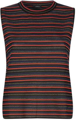 Akris Stripe Grid Knit Top